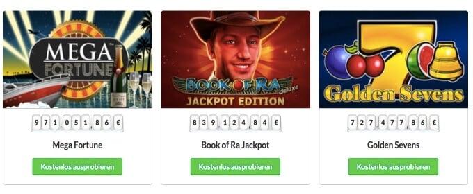 Quasar Gaming Jackpot Spiele