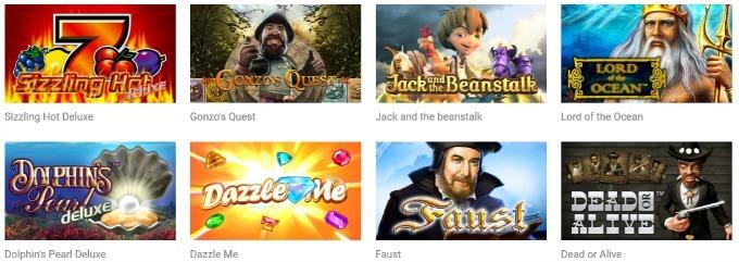 Quasar Gaming Spiele Slots Auswahl
