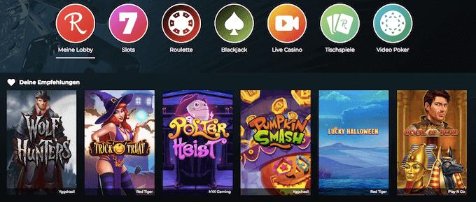 Rolla Casino Spiele