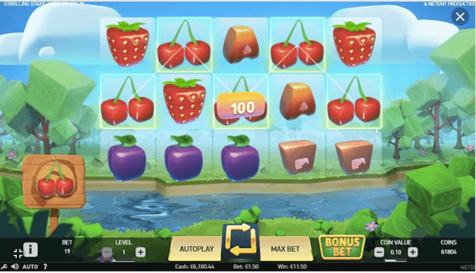 Rolling Staxx Cubic Fruits NetEnt