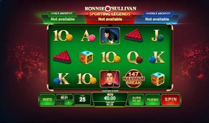 Ronnie O'Sullivan Playtech Slot