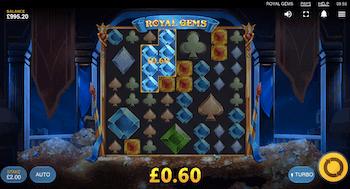 Royal Gems Red Tiger Slot Cluster