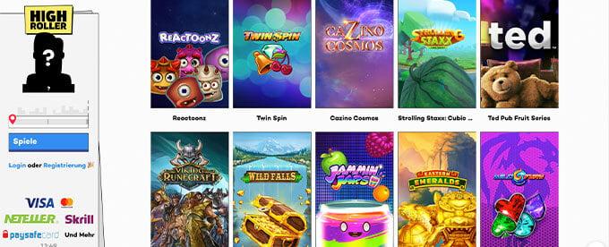 HighRoller Casino Online Slots
