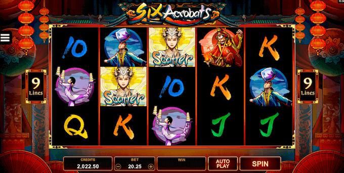 Six Acrobats Microgaming Slot