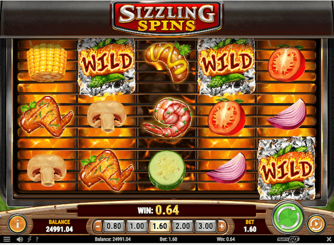Sizzling Spins Play n GO Slot