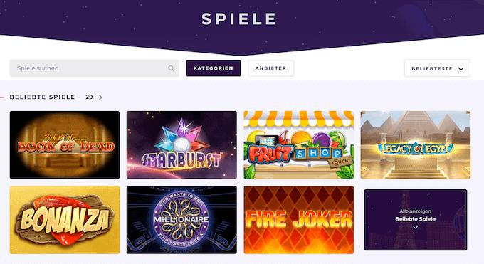 Slot Planet Casino Spiele