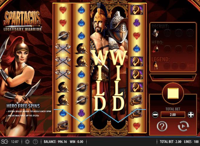 Spartacus Legendary Warrior WMS Slot