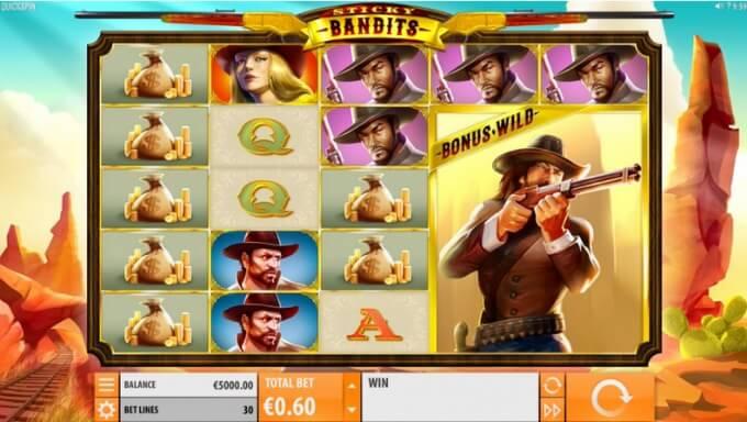 Sticky Bandits Quickspin Slot