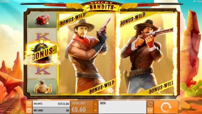 Sticky Bandits Slot Quickspin