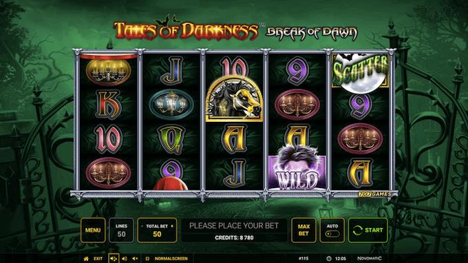 Tales of Darkness Break of Dawn Novomatic Slot