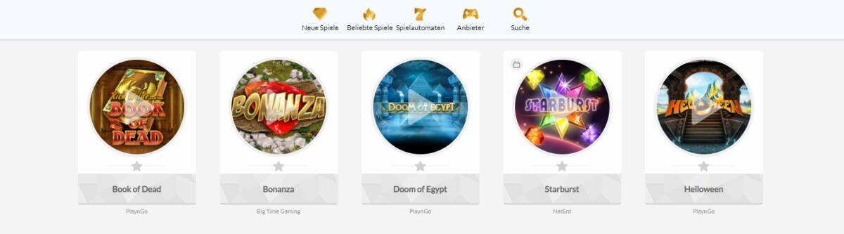 fantastische Spielauswahl im Temple Nile