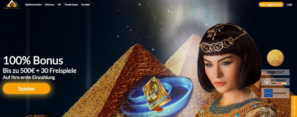 Temple Nile Startbildschirm