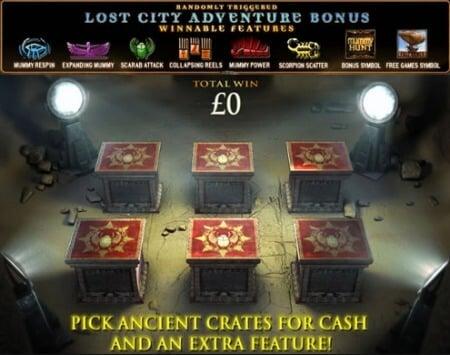 The Mummy Slot Playtech Lost City Adventure Bonus