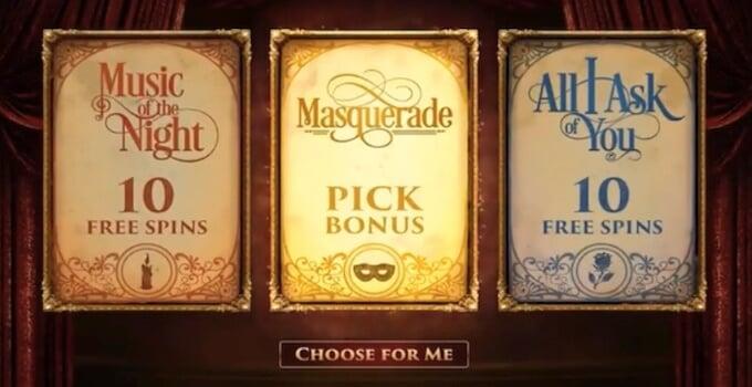 Phantom of the Opera Microgaming Slot Bonus Features