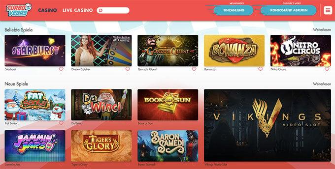 TurboVegas Pay & Play Casino
