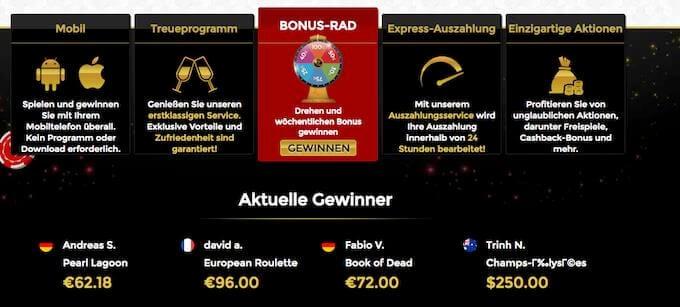 Unique Casino Treueprogramm Extras