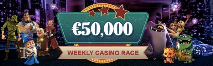 VideoSlots Online Casino wöchentiches Slot Race