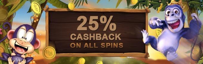 VideoSlots Online Casino cashback