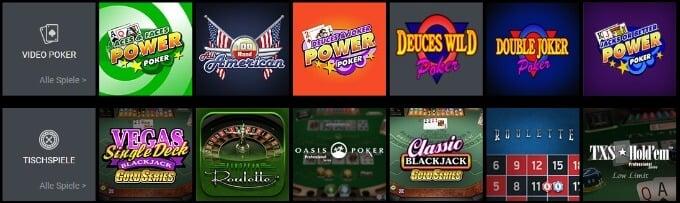 Viks Online Casino Video Poker und Tischspiele