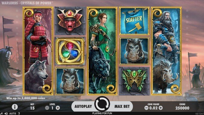Warlords: Crystals of Power NetEnt Slot