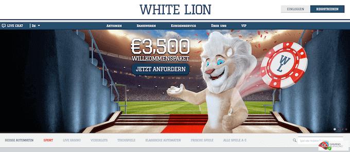 White Lion Casino Bonus