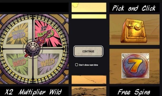 Wild Wild West: The Great Heist NetEnet Slot Bonus Spiel