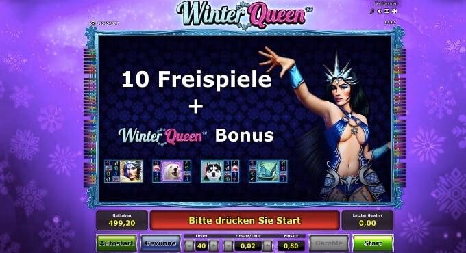Winter Queen Novomatic Freispiel Feature
