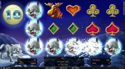 Wolf Cub NetEnt Blizzard Feature