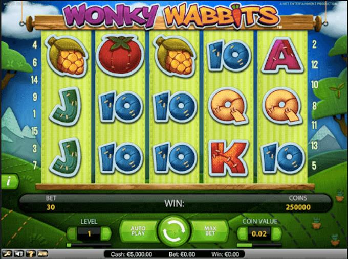 Wonky Wabbits NetEnt Slot