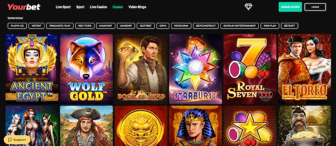 Yourbet Casino Spiele
